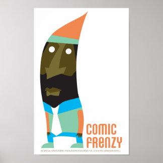 Poster cómico del gnomo del frenesí