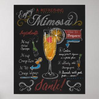 Póster Cómo hacer un poster de la pizarra del Mimosa