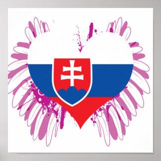 Póster Compre la bandera de Eslovaquia