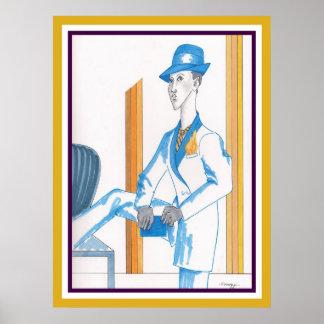 Poster con el orig. arte, modelo andrógino