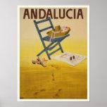 Poster con la impresión de España del vintage