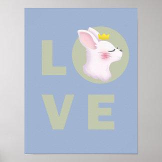 Póster Conejito del amor