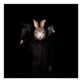 Póster Conejo malvado