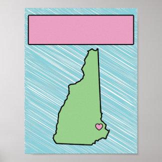 Poster conocido de New Hampshire del cuarto de