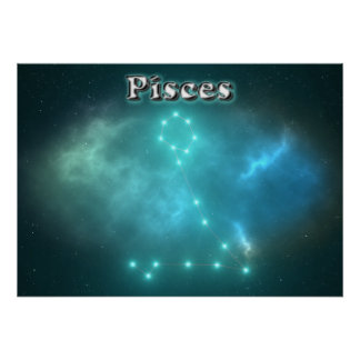 Póster Constelación de Piscis