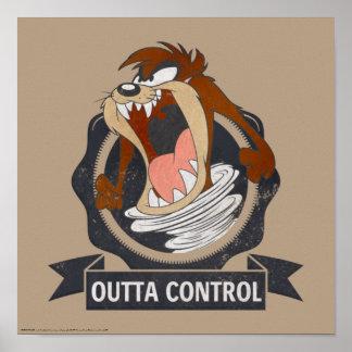 Póster Control de TAZ™ Outta
