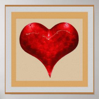 Póster CORAZÓN romántico del VINTAGE: La joya tiene gusto