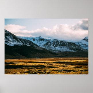Póster Cordillera en la luz del sol