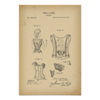 Póster Corsé de 1877 patentes