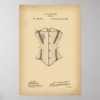 Póster Corsé de 1878 patentes