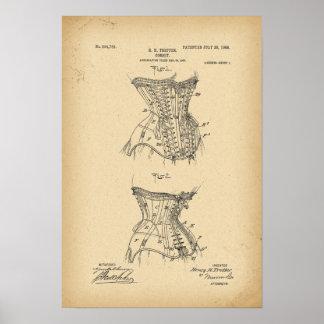 Póster Corsé de 1908 patentes