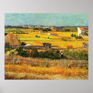 Póster Cosecha en el La Crau - Van Gogh