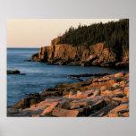 Póster Costa costa del parque nacional del Acadia, Maine