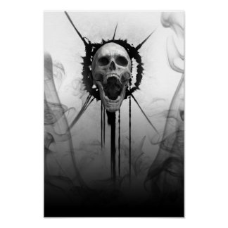Póster Cráneo de griterío de Darkness_Poster