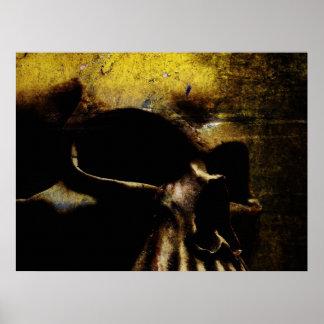 Póster Cráneo de la lona
