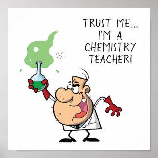 Póster Cree a su propio científico enojado
