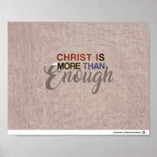 Póster Cristo es más que bastantes