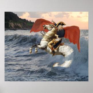 Póster Cthulhu Bonaparte en la playa