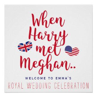 Póster Cuando Harry resolvió el boda real personalizado