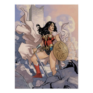Póster Cubierta cómica #13 de la Mujer Maravilla