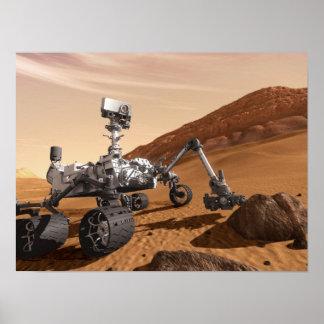 Póster Curiosidad Rover de Marte