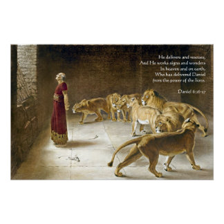 Póster Daniel en la escritura del arte de la biblia de la