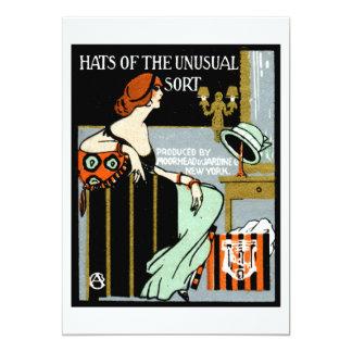 Poster de 1920 modas invitación 12,7 x 17,8 cm