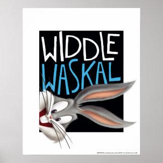 Póster ™ de BUGS BUNNY - Widdle Waskal