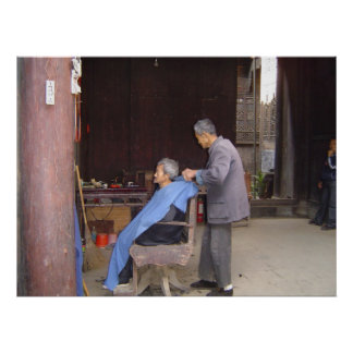 poster de China de la peluquería de caballeros A