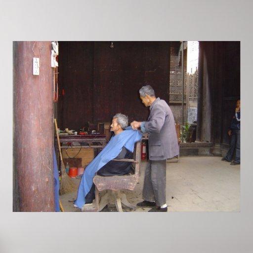 poster de China de la peluquería de caballeros A P