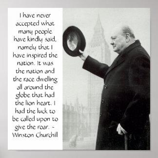 Poster de Churchill