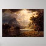 Poster de Colorado del parque de Bierstadt Estes Póster