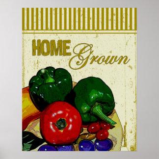 Poster de cosecha propia de las verduras póster