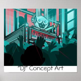 """""""Poster de DJ de los horizontes de Distro"""" -"""