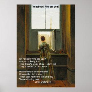 Póster ¡De Emily Dickinson no soy nadie! ¿Quién son