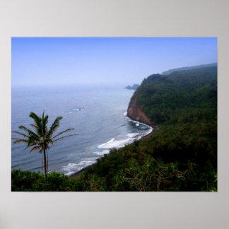 Poster de Hawaii de la mirada de Pulolu hacia