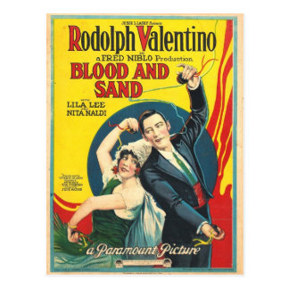 Poster de la arena de la sangre de Rudolf Tarjetas Postales