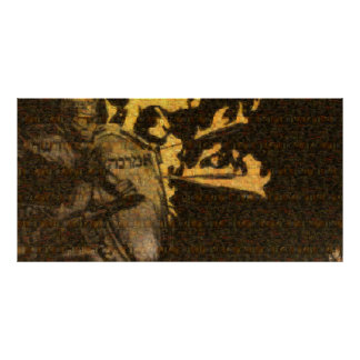 """Poster de la """"armadura"""" (mosaico de todo el póster"""