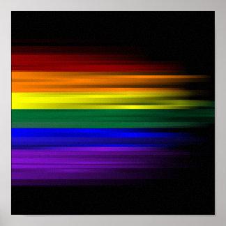 Poster de la bandera del arco iris