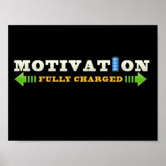 Poster de la batería de la motivación póster