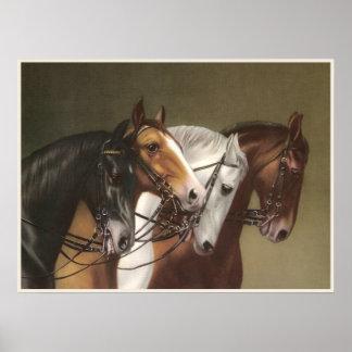 Poster de la bella arte de CUATRO CABALLOS