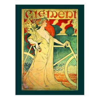 Poster de la bicicleta del vintage de Clément de Postal