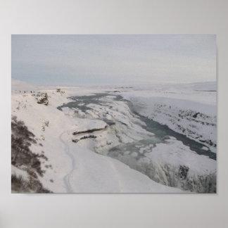 Poster de la cascada de Gullfoss de Islandia (en Póster