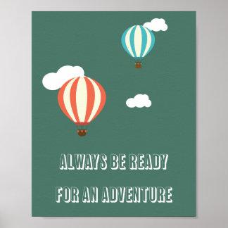 Poster de la cita de la aventura póster