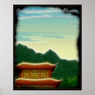 Poster de la cita de la fortuna de Buda