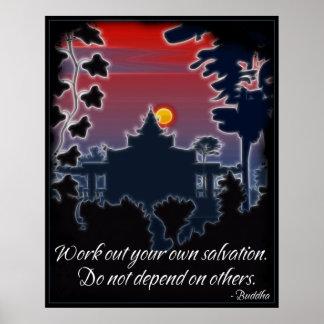 Poster de la cita de la salvación de Buda