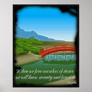 Poster de la cita de la serenidad de Buda