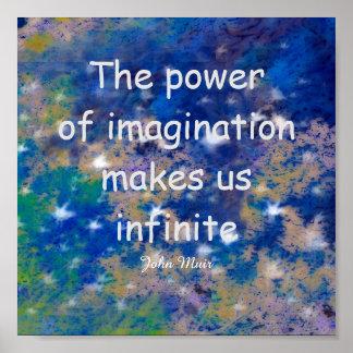 Poster de la cita de Muir el poder de la