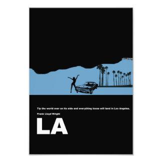 Poster de la ciudad de Los Ángeles Arte Con Fotos