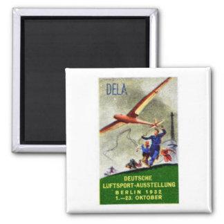 Poster de la competencia de 1932 aviones modelo imán cuadrado